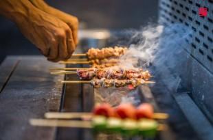 台北松山區美食/爍場居酒屋免費吃日本鹿兒島A5和牛!和牛握壽司、花魚一夜干必吃 主廚也大有來頭